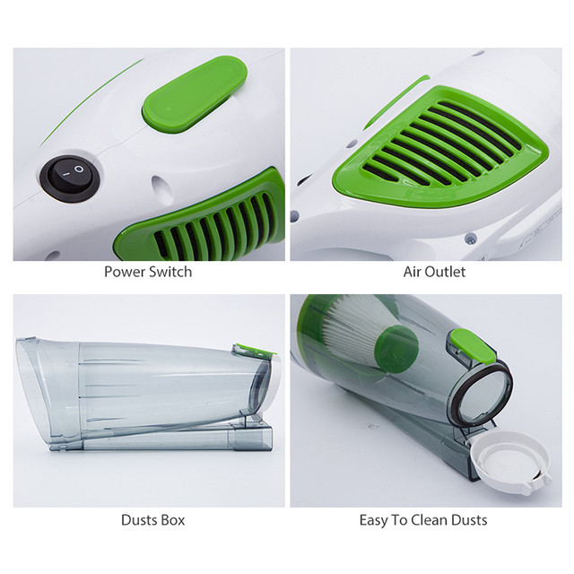 Tuansing New Mini Ultra Quiet Hand Held Vacuum Cleaner Household Strength Dust Collector Home Aspirator 600W EU US Plug