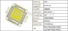 1pcs/lot 100W 3000mA 30-34V LED light Lamp SMD LED Epistar chips for flood light 8000-9000LM LED Integrated High power Beads