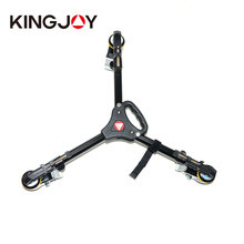 Skilled Pictures Heavy Obligation Tripod Dolly with Wheels Adjustable Leg Mounts Base Stand for Video Tripod KINGJOY VX-600D