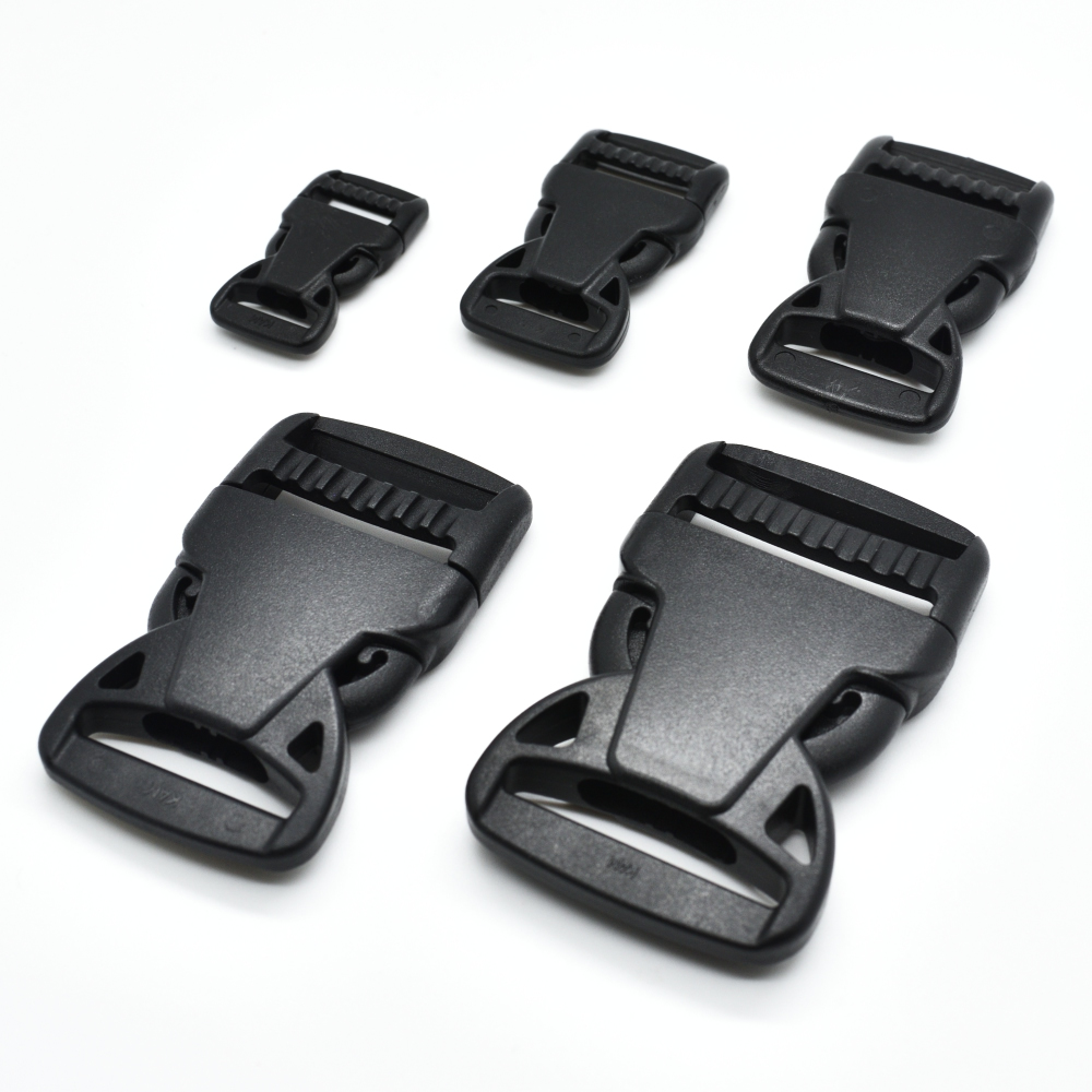 1pcs/pack Plastic Side Release Buckle Belt Buckle Package Accessories Ribbon Slider Dog Collar Black
