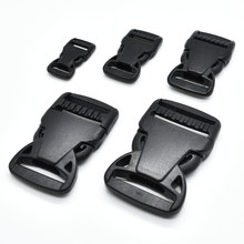 1pcs/pack Plastic Side Release Buckle Belt Buckle Package accessories Ribbon Slider Dog Collar Black(China)