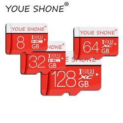 Красный микро sd карты SDXC/SDHC 128 GB/64 GB/32 GB/16 GB/8 GB TF/карты памяти Class10 32 ГБ флэш-памяти для смартфона/планшета
