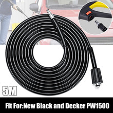 5 meters Washing Tube High Power Pressure Washer Water Cleaning Hose Extension Hose For New Black For Decker PW1500