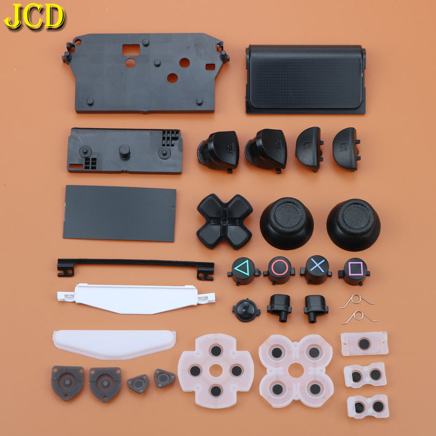 JCD 1Set L1 R1 L2 R2 Trigger Buttons 3D Analog Joysticks Thumb Sticks Cap Conductive Rubber For PS4 Controller Handle Accessorie