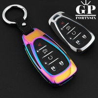 5Buttons Zinc Alloy Leather Smart Car Key Cover Case Shell Protector FOB For Chevrolet 2016 2017