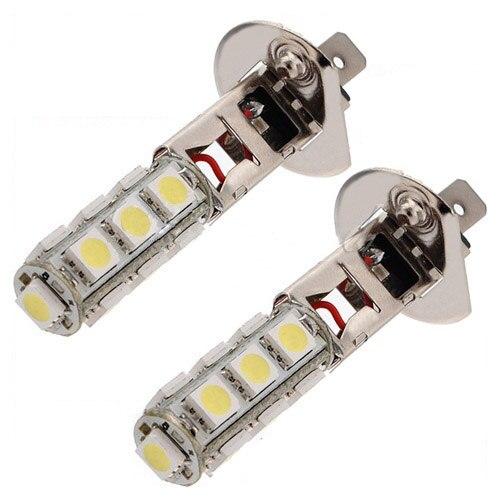 2Pcs H1 13 LED 5050 SMD White Headlight Fog Head Light Lamp Bulbs DC 12V New
