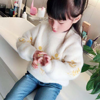 Toddler Girl Mohair Sweaters Kids Girls Princess Tops Children Clothing Baby Girl Clothes 2019 Korean New Girl Cute Warm Sweater