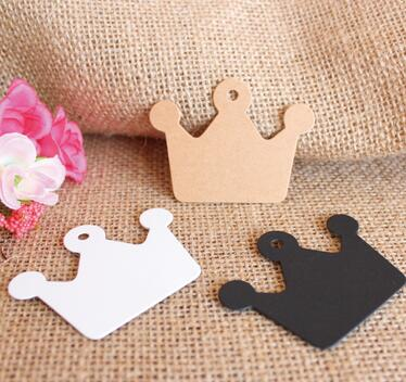 Wholesale 100 Pcs / Lot Brand New Kraft Paper Labels Hang Paper Price Label Wedding Part ...