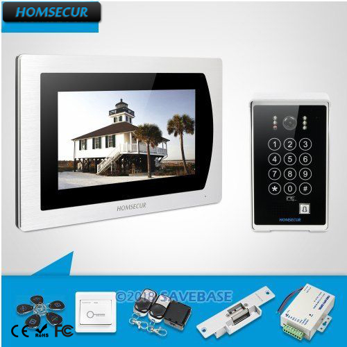HOMSECUR 7 Wired Video Door Phone Intercom System+Motion Detection Camera with Password Access for Apartment