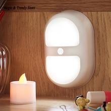 Mini LED Double Ring Lights Night Light Motion Activated Sensor Lights Battery