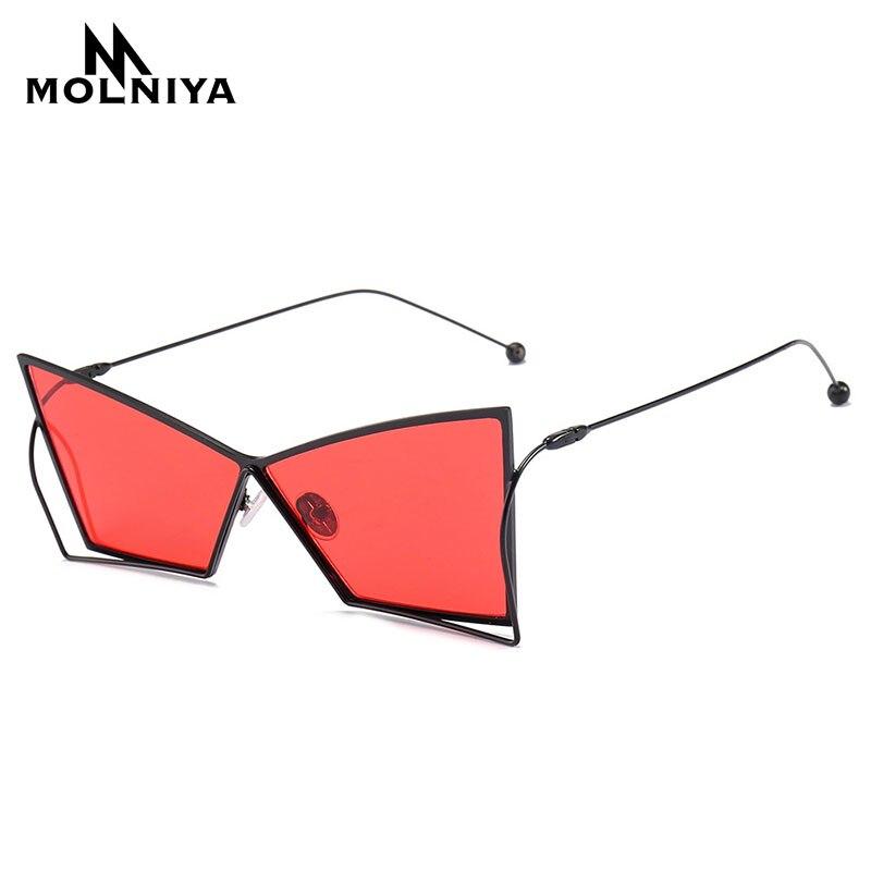 MOLNIYA New Small Square Sunglasses Men Retro 2018 Irregular Metal Frame Yellow Red Mens Sun Glasses for Women unisex uv400