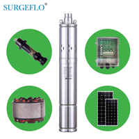 3SPS1.3/50 D24/140 dc solar water pump for deep well for irrigation deep well solar pump kit