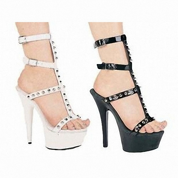 New nightclub sandals, sexy appeal rivets shoes in summer High heels with ads women's shoes 15cm