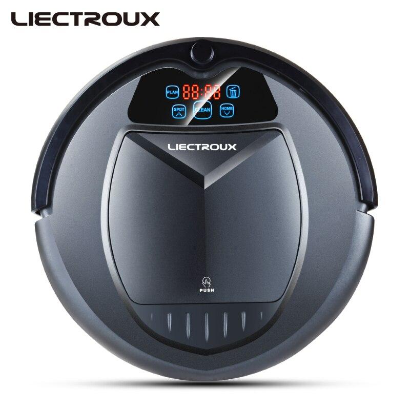 LIECTROUX B3000 Vide Robot De Nettoyage avec LED Tactile Écran Bonne Aspiration Puissance Conçu pour les Poils D'animaux et Sol Dur