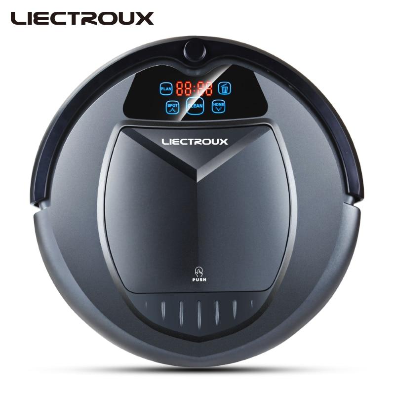 LIECTROUX B3000 Pulizia con Aspirapolvere Robot con LED Touch Screen di Buona Potenza di Aspirazione Progettato per Peli di Animali Domestici e Pavimento Duro