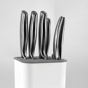 Image 4 - Держатель для кухонных ножей Youpin Huohou, многофункциональный держатель для инструментов, блок для ножей, полка для кухонных ножей, хромированный