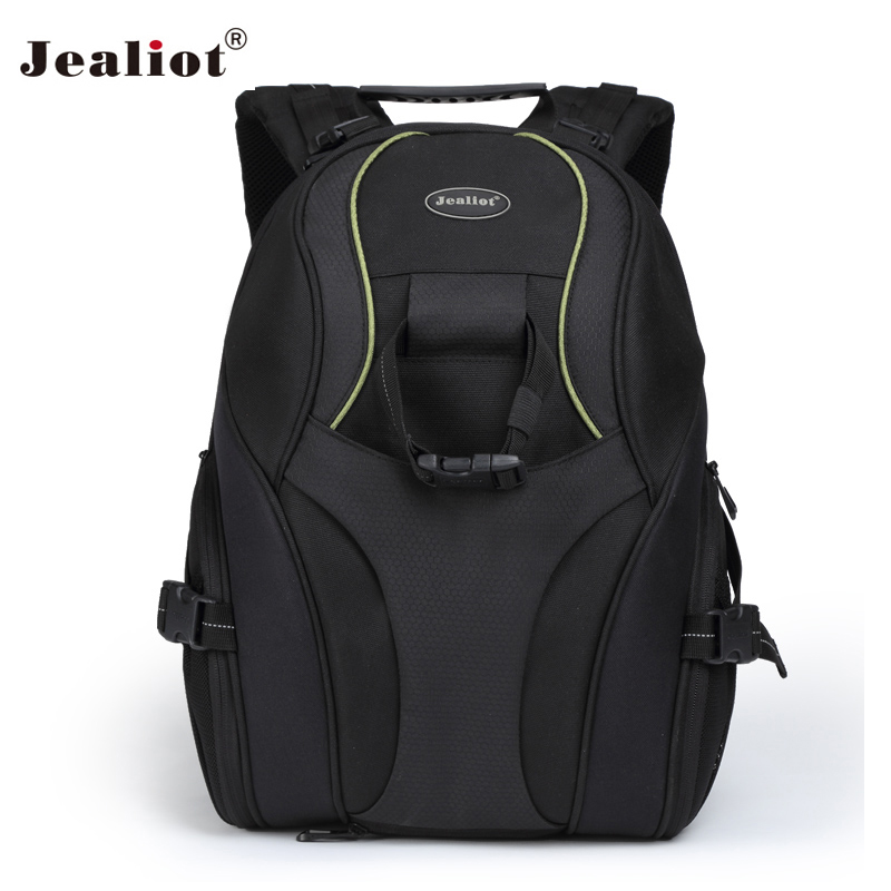 2017 Jealiot Camera Bag 14 inch laptop Backpack Video Photo lens Bags waterproof digital DSLR case for Canon Nikon Free shipping sinpaid anti theft digital dslr photo padded camera backpack with rain cover waterproof laptop 15 6 soft bag video case 50
