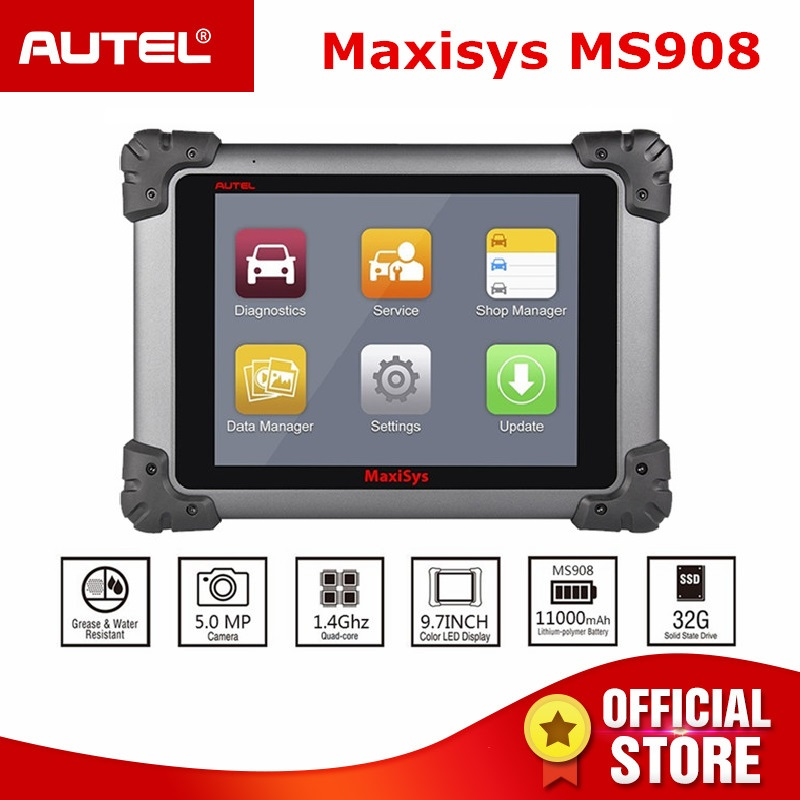 Testeur d'ecu de Scanner automobile Autel MaxiSys MS908 OBD2 connecter J2534 comme outil de programmation de Diagnostic de voiture Maxisys PRO MS908P OBDII