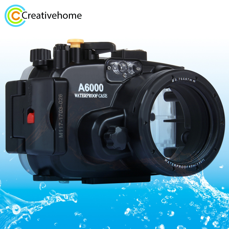 For Sony A6000 case 40m/ 130ft Diving Waterproof Camera Case Bag Housing For Sony A6000 Camera Holster meikon 40m wp dc44 waterproof underwater housing case 40m 130ft for canon g1x camera 18 as wp dc44