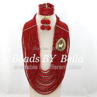 New Style African Jewelry Beads Jewelry Set Fashion African Statement Necklace Set Hot Sale Free Shipping ABS277
