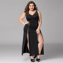 Women Sexy Underwear Plus Size Lingerie Sleepwear Babydoll Sexy Hot Erotic Porno Costumes Sexy Babydoll Nightwear Dress Black(China)