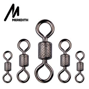 Image 5 - MEREDITH 50PCS/Lot Ball Bearing Swivel Solid Rings Fishing Connector Ocean Boat Fishing Hooks