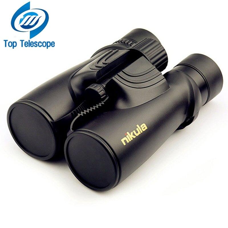 Nikula 10X42 Binoculars new professional Nitrogen Waterproof telescope Powerful Bak4 Night Vision hunting scope military compact
