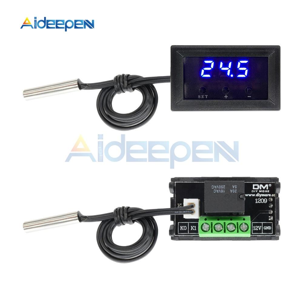 50-110°C Thermostat Digital DC12V AC110-220V W1209WK Temperature Control Sensor