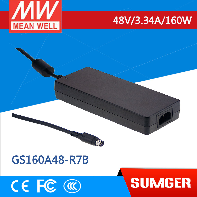 [Sumger2] MEAN WELL original GS160A48-R7B 48V 3.34A meanwell GS160A 48V 160W AC-DC Industrial Adaptor [sumger] mean well original gst120a15 r7b 15v 7a meanwell gst120a 15v 105w ac dc high reliability industrial adaptor