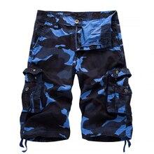 Шорты карго мужские камуфляжные, с множеством карманов, в стиле милитари