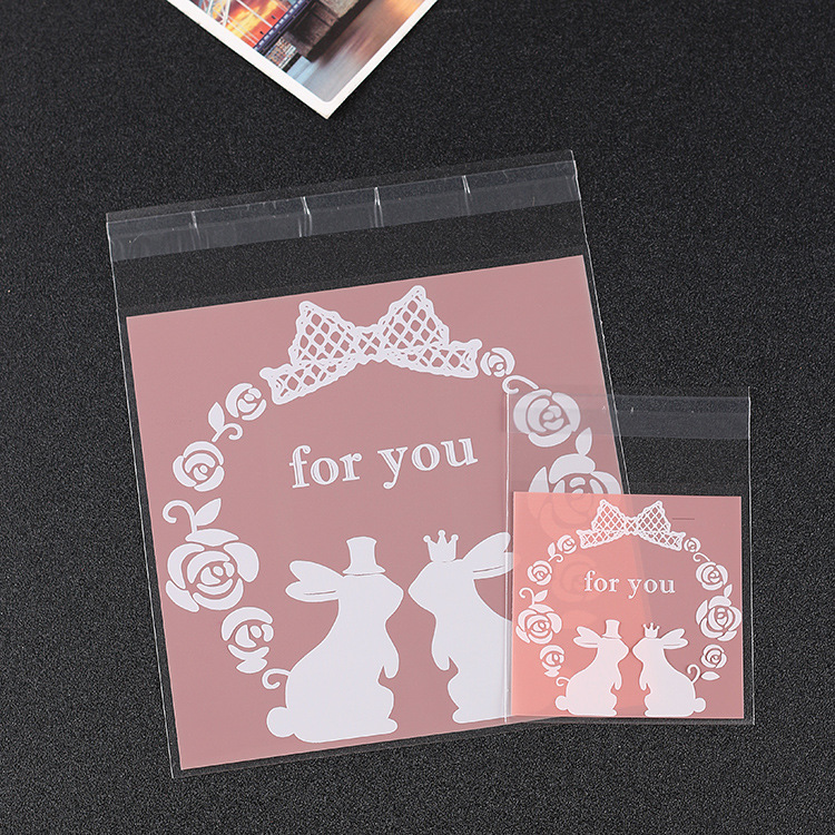 500PCS For you Cellophane Cookies Bags Christmas Gift ...