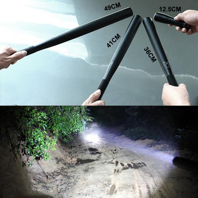 Self Defense Baseball Flashlight Stick Outdoors Emergency Personal Defense Supplies Extended Baseball Bat Anti Riot Equipment