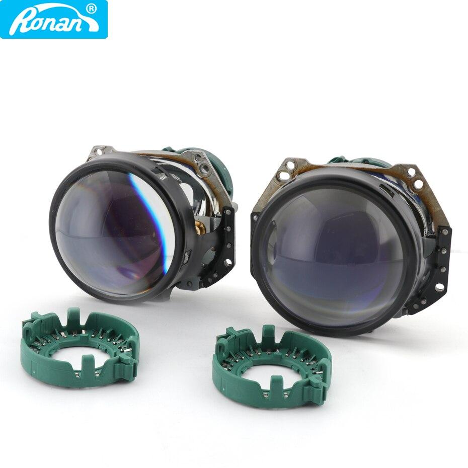 RONAN Bi-xenon headlights lens hella D2S 3R G5 3.0'' projector blue film car styling retrofit headlights for cars D1 D3 D4