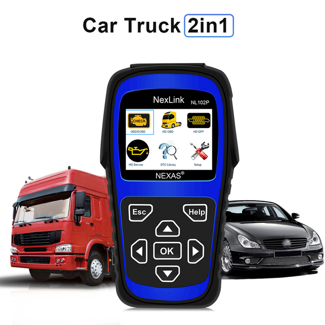 2017 New Truck Diagnostic Tool NL102P DPF/Oil Reset for Diesel Heavy Duty Truck Scanner Car Diagnosis 2 in 1 Code Scan Tool