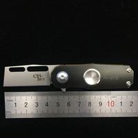 Mini Pocket Knife Small Titanium Folding Knife Ball Bearing Flipper EDC Survival Rescue Multitool Hand Spinner