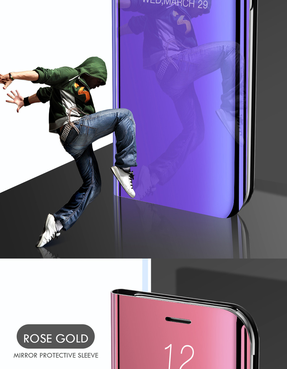 Smart Mirror Phone Case For Samsung Galaxy S10 S9 S8 Plus S10E A6 A8 A7 20