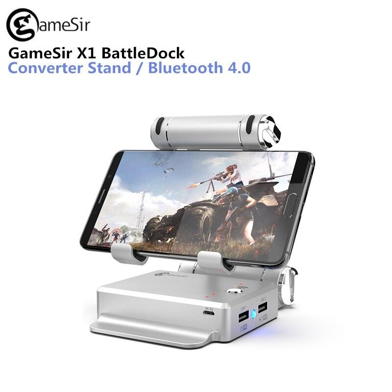 GameSir X1 BattleDock Convertisseur Clavier et Souris Adapte pour PUBG Mobile jeux, AoV, Mobile Légendes, RoS, couteaux, Livraison Feu