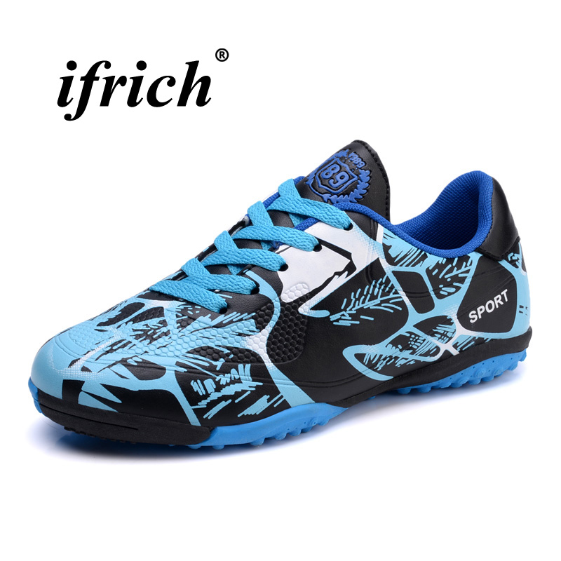 db51cb72398 Aliexpress.com   Buy New Trend Turf Men Football Shoes Blue Red Mens  Football Cleats Comfortable Soccer Sport Shoes Mens Low Top Outdoor Soccer  Shoes from ...