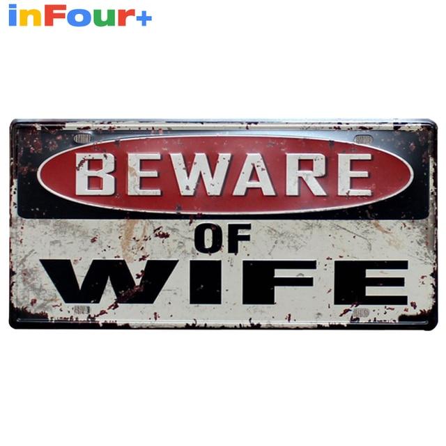 [ WIFI ] 30*15cm Car License Plate Vintage Home Decor Tin Sign Shabby Chic