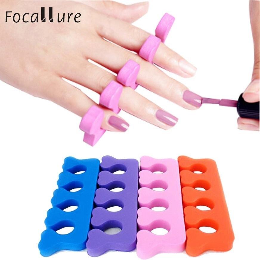 2017 100 pcs Ferramenta Suave Toe Dedo Separador Nail Art Manicure Pedicure Material Plástico Macio Colorido Da Arte Do Prego Ferramenta augu10