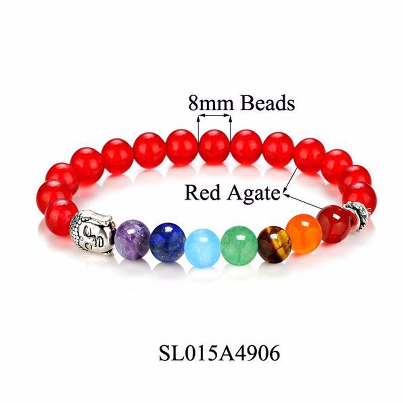 8 Colors 2018 7 Chakra Healing Balance Buddha Beads Bracelets Bangles Charm Natural Stone Bracelet Yoga Jewelry Men Women Gift 6