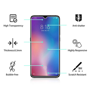 Image 2 - 5Pcs Tempered Glass For Xiaomi Mi 9 Screen Protector 9H 2.5D Phone On Protective Glass For Xiaomi Mi 9 SE Mi9 Glass