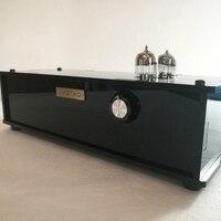 מגבר צינור IWISTAO מעגל מאטיס 2x6N3 PMMA מארז שחור טעם מוסיקלי צבע פסנתר 110/220 V HIFI רכיב אימץ-במגבר מתוך מוצרי אלקטרוניקה לצרכנים באתר