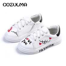 COZULMA Spring Kids Casual Shoes Sneakers Boys Girls Sport Shoes Toddler Little Kids Big Kids Boys Cute Sneakers Letters Shoes cheap Unisex Rubber Breathable Print Lace-Up Cotton Fabric Autumn Spring Winter Summer Fits smaller than usual Please check this store s sizing info