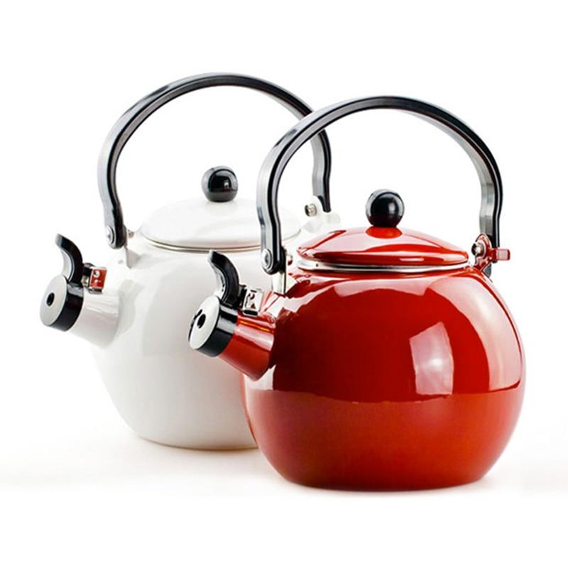 2018 1.4L enamel teapot whistle ball called pot Tree enamel thickening gas cooker kettle2018 1.4L enamel teapot whistle ball called pot Tree enamel thickening gas cooker kettle