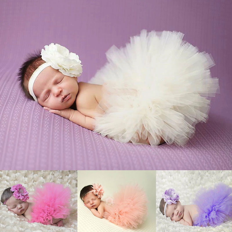 Newborn  Photography Props Baby  Girl Clothes Tutu Princess Skirt  Accessories  Infant Clothing Outfit Babies Set For Girls