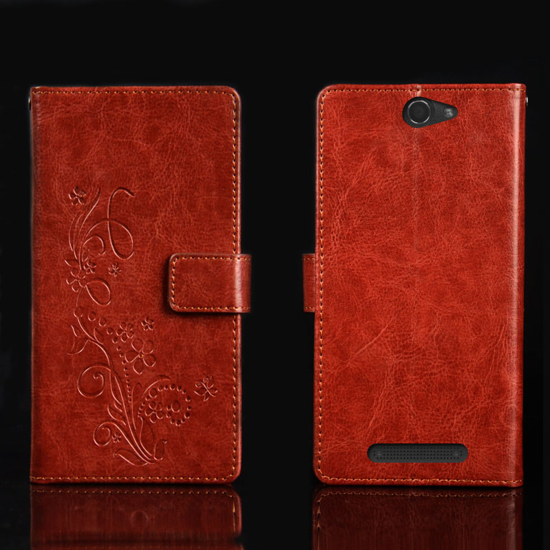Pierves Luxury Card Slot flip cover PU Leather <font><b>Case</b></font> <font><b>For</b></font> <font><b>DEXP</b></font> <font><b>Ixion</b></font> <font><b>ML150</b></font> Amper M image