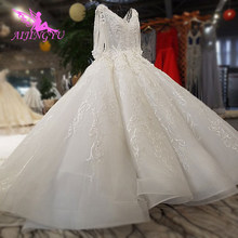 AIJINGYU Wedding Dress Short Bridal Gowns Stores Wed To Be Lace Whites Marriage Ivory Gown Wedding Apparel