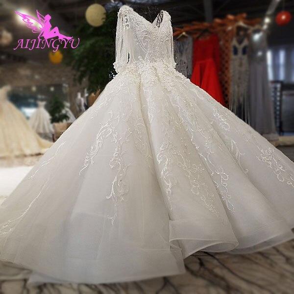 AIJINGYU فستان زفاف قصير زي العرائس مخازن الأربعاء ليكون الدانتيل الأبيض الزواج العاج ثوب الزفاف ملابس الزفاف