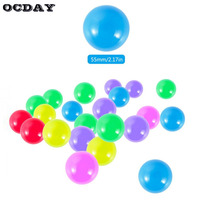 OCDAY 200pcs Water Pool Ocean Wave Ball Eco Friendly Colorful Soft Plastic Balls Baby Funny Toys